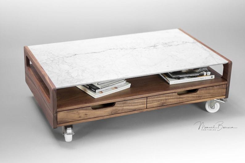 Marmor Couchtisch Tisch Wohnzimmer Tisch aus massivem | Etsy