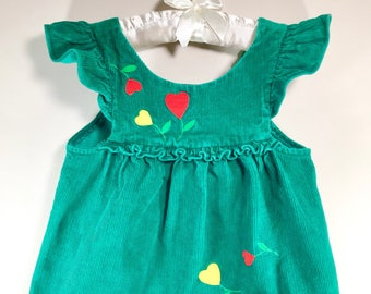 4T Valentine Dress (Corduroy Jumper)