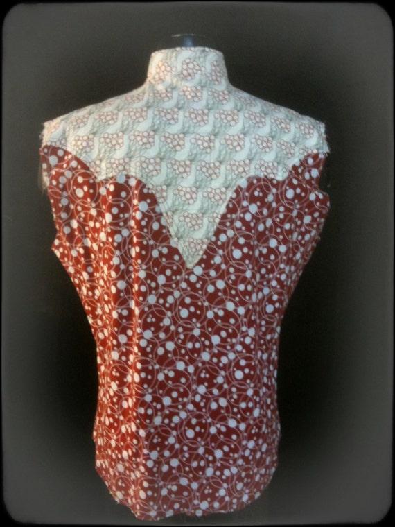 100 inspirée. % original, recyclé, hommes vintages cowboy chemise inspirée. 100 27f7d8