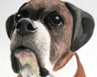 Custom pet portrait watercolor Original watercolor painting custom cat portrait from photo dog Painting Memorial Art Custom Gift for her