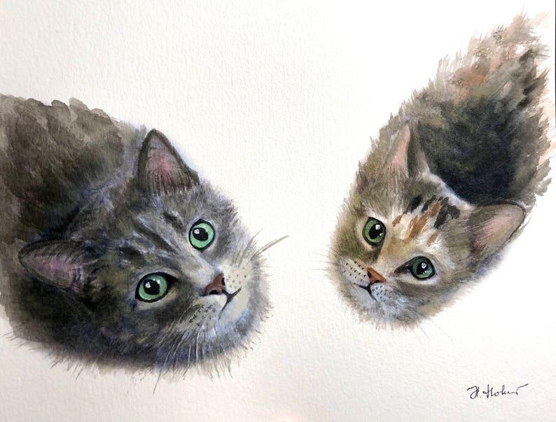 Pet portrait custom watercolor