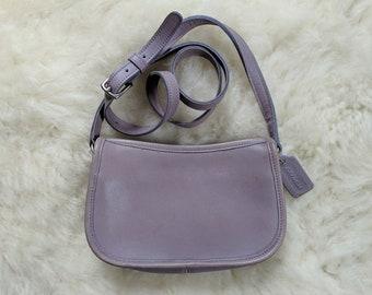 Vtg COACH Lavender Leather Bag    Spring 1998 Light Purple Leather Coach  Purse    Excellent Vintage Condition    No. 9031 31dd848f56a6e
