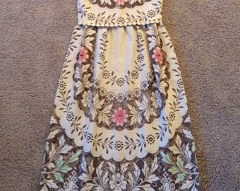 Vintage crochet sheer cut out hippie boho meadow chic wedding dress victorian sheer tulle lace