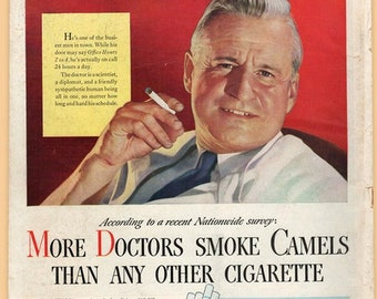 Real Vintage 1940s Camel Ad Centerfold