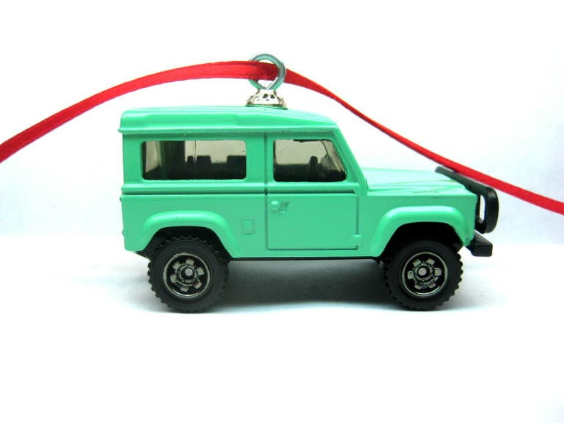 9a14cd8d81bb9 Land Rover 90 Jeep Truck Car Matchbox Tree Christmas Ornament, Christmas  Tree, Ornaments, Holiday Ornaments, thefrogprince65, Keychain