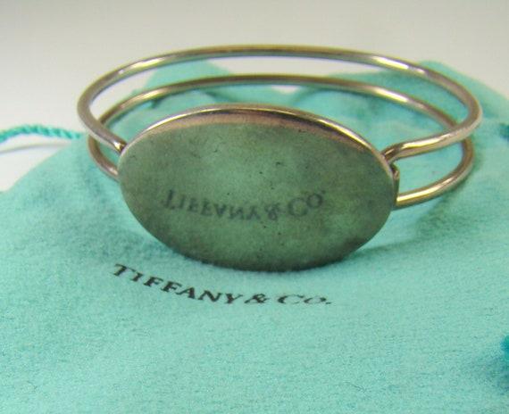 b338af256 Tiffany & Co. 925 Sterling Two Strand Oval Signet ID Bangle   Etsy