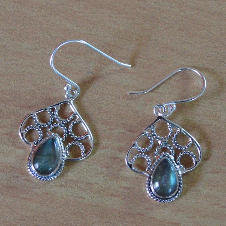 2d7dfa2371a Labradorite Earrings 925 Sterling Silver natural Gemstone Jewelry,unique  handmade girl women earring Birthstone Very Elegant Design Earrings