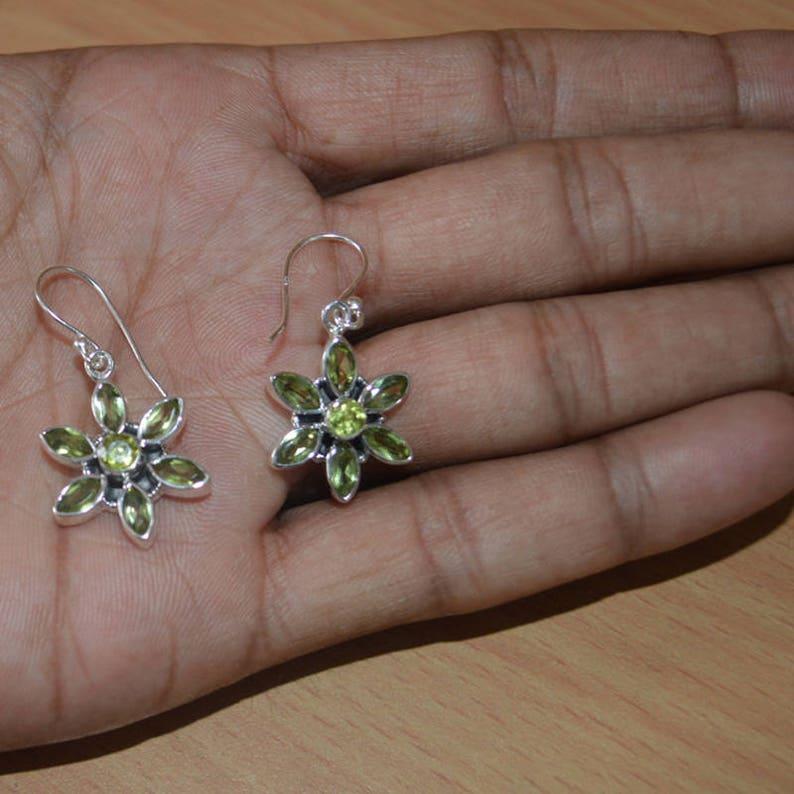 404a6f41d Peridot earrings-August Birthstone 925 % Sterling silver Green | Etsy
