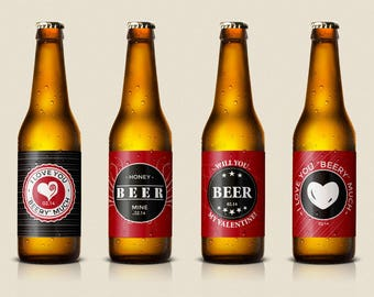 Valentine Beer Printable Labels - 4 - (DIY)