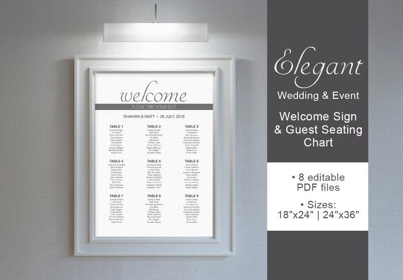 Wedding Welcome Sign Elegant Theme Wedding & EventWelcome image 0