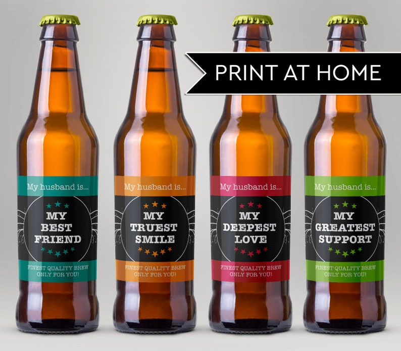 Printable Beer Labels for Husband Valentine Beer Printable image 0