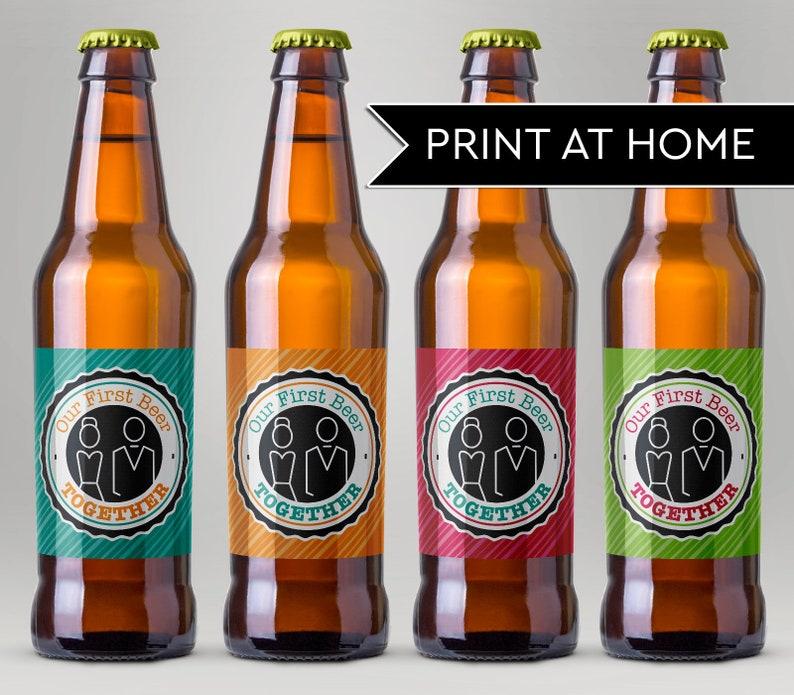 Printable Beer Labels for Husband Our First Beer Together image 0