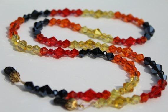 Crystal Eyeglasses Chain, Glass Bead Chain for Reading Glasses, Gift for Her Holder for Glasses