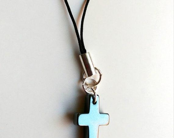 Cross Purse Dangle, Cell Phone Charm, Backpack Charm
