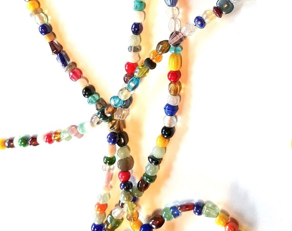 Multi Color Rainbow Eyeglass Chain, Mix Bead Reading Glasses Holder