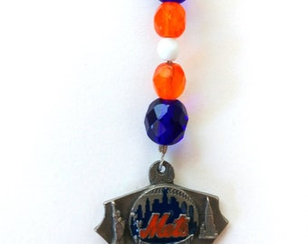 NY Baseball, Beaded Bookmark,  Baseball Fan Gift, Yankees Mets