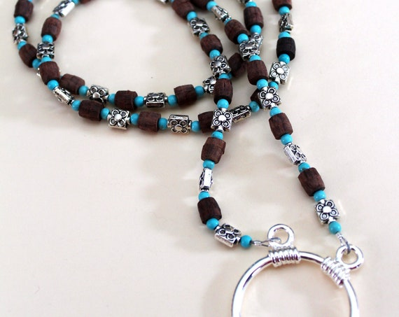 Glasses chain, Eyeglass Necklace Holder, or Lanyard for ID Badge Holder