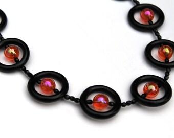 Big Bead Black Necklace