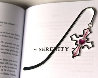 Cross Bookmark, Religious Gift, Religion Teacher, Confirmation or Communion Gift Idea