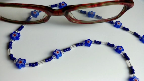 Eyeglass Chain, Blue Star Chain for Glasses