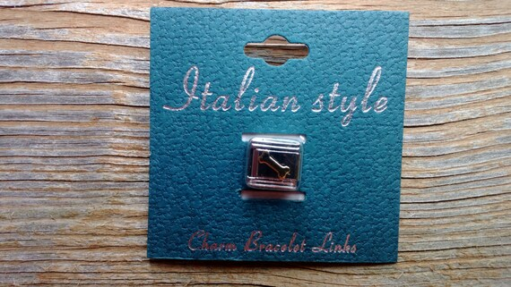 Italian Style Charm Link, Dog Bone, Stainless Steel Link