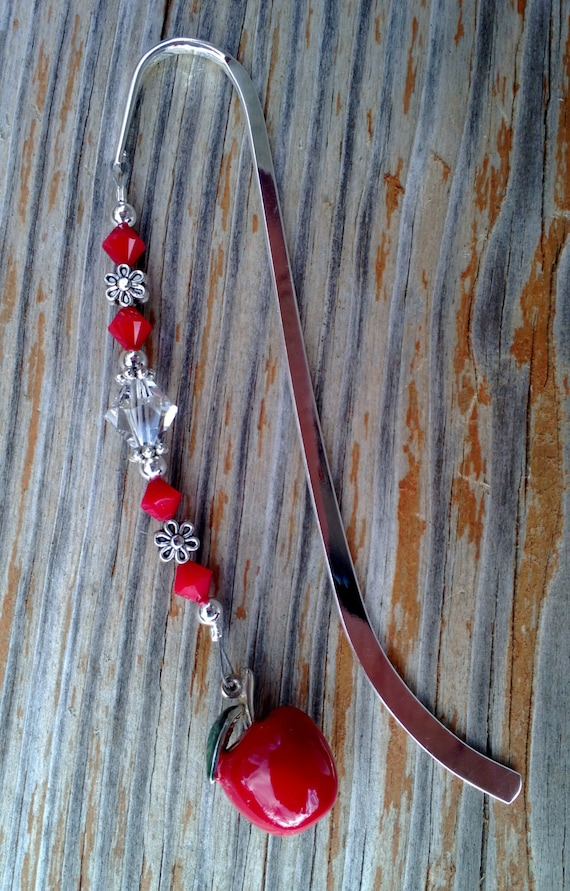 Apple Crystal Bookmark