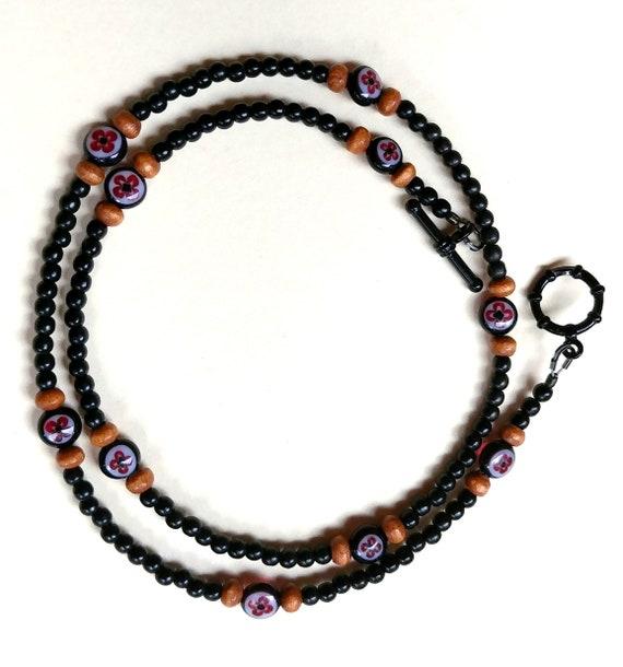 Minimalist Black Bead Necklace