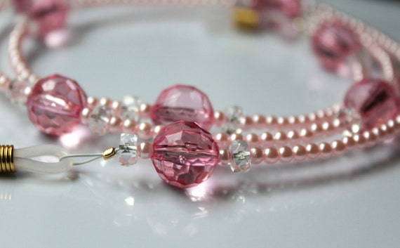 Pink Eyeglass Chain Necklace for Glasses, Gift for Mother