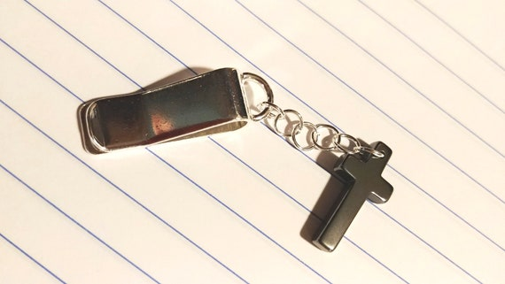 Bookmark Clip, Metal Cross Paper Clip