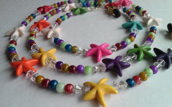 Starfish Gift,  Eyeglass Chain, Beach Lovers Gift, Sunglasses Holder, Beach Jewelry