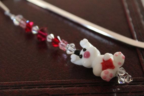 Bead Bookmark, Love Bunny Rabbit Gift Idea, Bookworm Gift, Burrow Into a Good Book