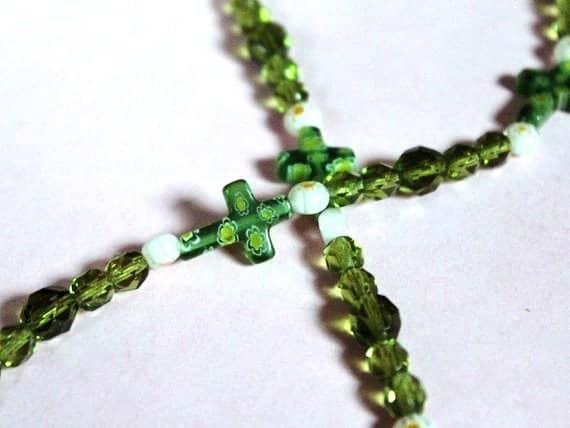 Cross Gift, Religious Gift Idea, Chain For Reading Glasses, Beaded Lanyard Present for Grandmother, Mother, Aunt, Sister, Religion Teacher