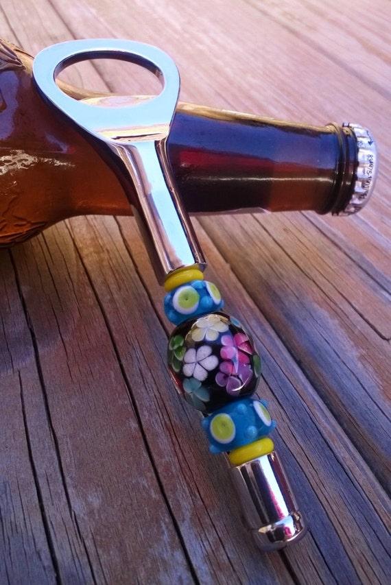 Bottle Opener, Beaded Bottle Opener, 21st Birthday Gift Idea, Beer Bottle Opener, Bar Accessory