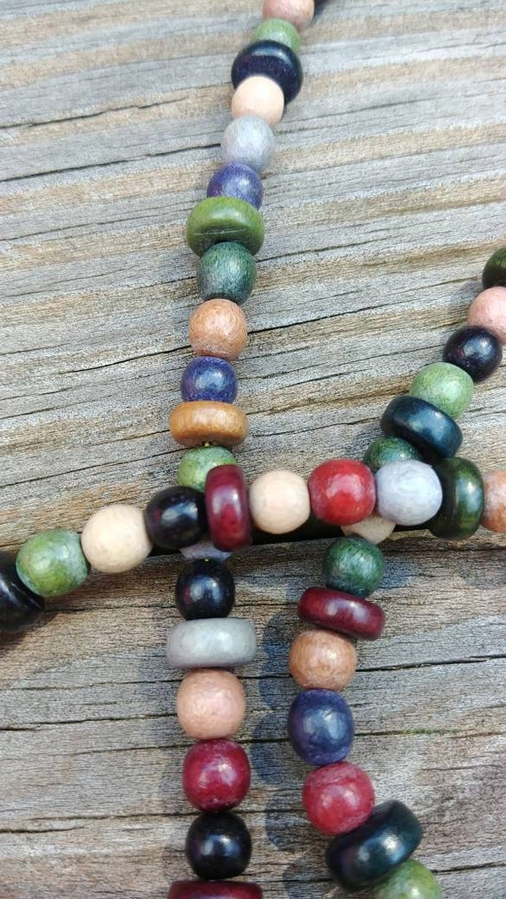 Fall Colors Beaded Lanyard