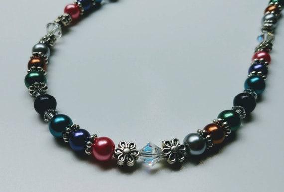 Eyeglass Ring Necklace,  Eyeglass Chain Necklace Holder, Chain for Glasses, Holder for Reading Glasses, Beaded Lanyard