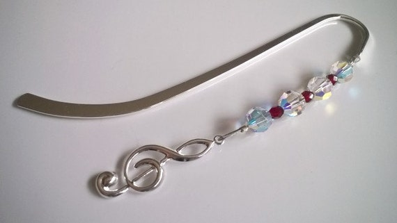 Music Bookmark, Music Teacher, Treble Clef, Piano Gift Idea