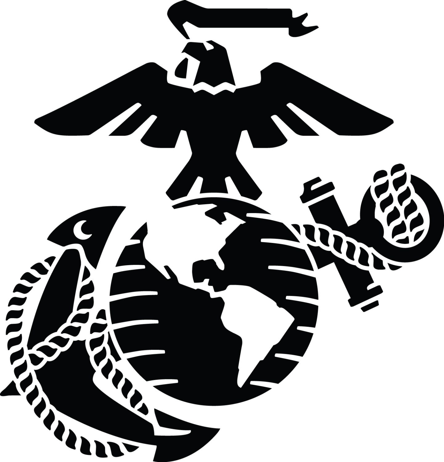 Eagle globe and anchor 6 inches usmc vinyl car decal window sticker