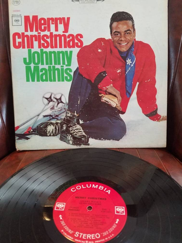 Johnny Mathis Merry Christmas Vintage Vinyl Record LP/ Crate   Etsy
