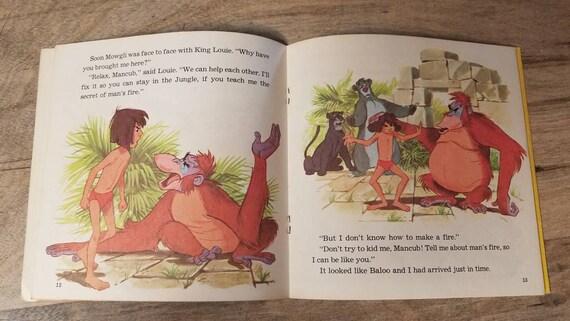 Vintage Walt Disney The Jungle Book Read Along Book And Record Visual Images Audio Vinyl Record Kids Bedroom Decor Nostalgic