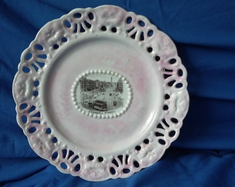 Vintage Ribbon Plate O'Connell Street Dublin