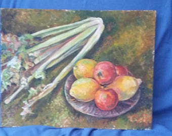 Vintage Original Oil Still Life.