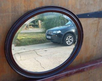 Vintage Oval Painted Mirror