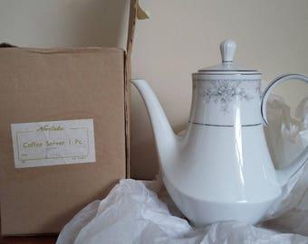 Unused Noritake Sweet Lielani Coffee Pot Original Boxed