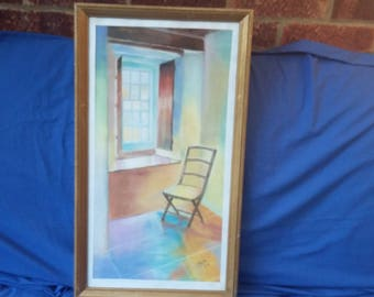 Original Still Life Pastel or Crayon