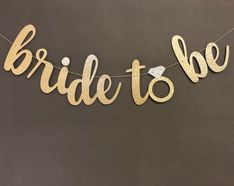 bride to be banner etsy
