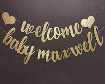 baby shower banner etsy
