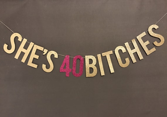 40th Birthday Decorations Party Banner