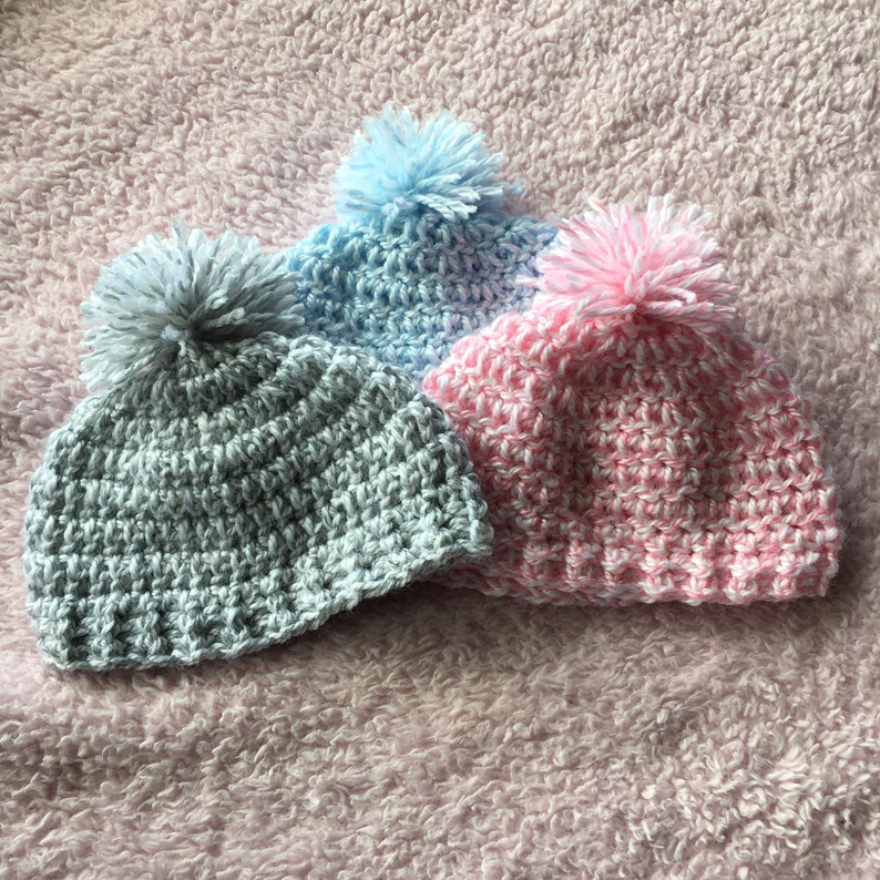 dbdec109cb2 Puff ball hat PICK YOUR SIZE Free shipping Baby safe