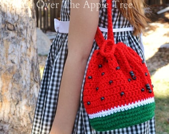 Watermelon Purse, Girl's Purse, Crochet Bag