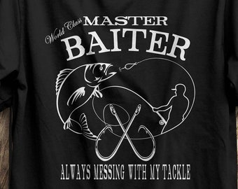 c86acaf92 Funny Fishing Shirt - Master Baiter - Fishing Gift - Fisherman Gift - Gift  For Dad - Gift For Husband - Gift For Grandpa - Bass Fisherman